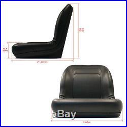 (1) New Black HIGH BACK SEAT for John Deere LVA10029 AM129969 AM129970 AM133476