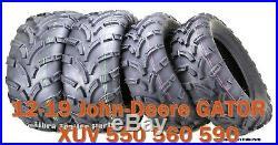 12-19 John-Deere GATOR XUV 550 560 590 ATV Tire Set 25x8-12 25x10-12 lit Mud