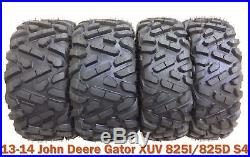 13-14 John Deere Gator XUV 825I/855D S4 Radial ATV Tire Set 26x9R12 & 26x11R12