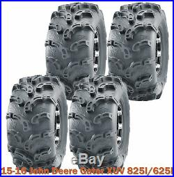 15-16 John Deere Gator XUV 825I/625I Complete Set ATV Tires 26x9-12 Super Lug