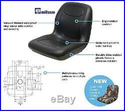 (2) Black HIGH BACK Seats John Deere Gator Gas Diesel Model 4x2 4x4 HPX TH 6x4