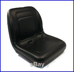 (2) Black HIGH BACK Seats for John Deere Gator Diesel 4x2, 4x4, HPX, TH & 6x4