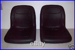 (2) Black High Back Seats John Deere Trail Gator Gas Diesel 4x2 4x4 Hpx 6x4 #gi