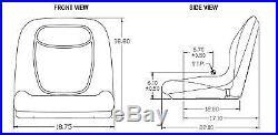 (2) Camo HIGH BACK Seats for John Deere Gator XUV 620i, 850D, 550, 550 S4 UTV