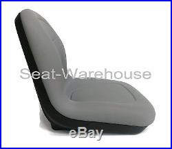 (2) Gray XB180 HIGH BACK SEATS for John Deere GATORS Made in USA by MILSCO #KN