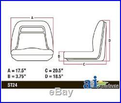 (2) HIGH BACK Seats for John Deere Gator TX / TX 4x2 / TX Turf / TX 4x2 Turf UTV