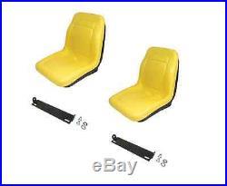 (2) HIGH BACK Seats with Brackets for John Deere Gator CS CX Diesel UTV Utility