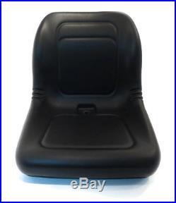 (2) New Black HIGH BACK SEATS for John Deere 420179 420183 420282 420360 Stens