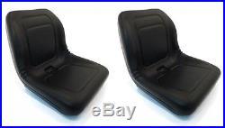 (2) New Black HIGH BACK SEATS for John Deere LVA10029 AM129969 AM129970 AM133476