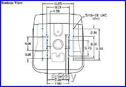(2) New HIGH BACK SEATS for John Deere VG11696 VG12160 VGA10177 XB180 XB-180