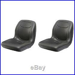 (2) Two Black High Back Seats for John Deere Gator XUV 620i, 850D, 550, 550