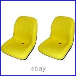 (2) Yellow High Back Seats Fits JD Fits John Deere Gator 4X2 4X4 4X6 Turf CX TE