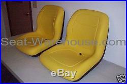 (2) Yellow High Back Seats Jd John Deere Gator, 4x2,4x4,4x6, Turf, Cx, Te, Th, Tx #jr