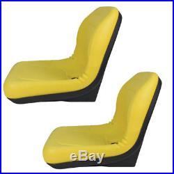 2 Yellow Vinyl Seats John Deere Gator Model E-Gator CS CX 4x4 Trail HPX TE Pair