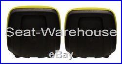 (2) Yellow XB180 HIGH BACK SEATS for John Deere GATORS Made in USA by MILSCO #JR