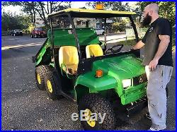 2004 JOHN DEERE GATOR 6X4 DIESEL AND POWER DUMP BODY (gov't surplus) NO RESERVE