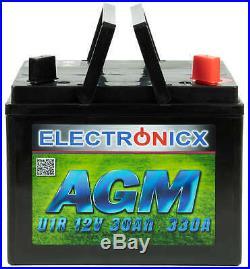 30Ah Batterie U1R AGM 30 AH 330A Rasentraktor Aufsitzrasenmäher motorradbatterie