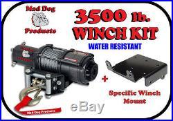 3500lb Mad Dog Winch Mount Combo John Deere 2011-2016 Gator XUV 625i 825i 855D