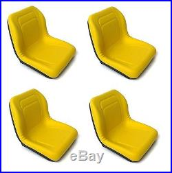 (4) HIGH BACK Seats John Deere Gator Gas & Diesel Models 4x2 4x4 HPX & TH 6x4