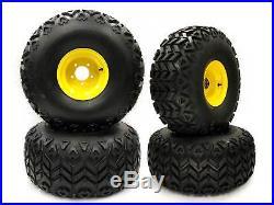 (4) John Deere Gator Front and Rear Wheel Assemblies Replaces AM143568 AM143569