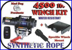 4500lb Mad Dog Synthetic Winch/Mount Kit for 2016-2019 John Deere Gator RSX 860