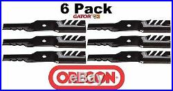 6 PK Oregon 596-354 G5 Gator Mulch Blade Fits John Deere M127500 M127673 M145476