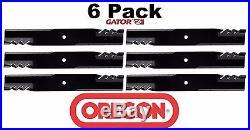 6 Pack Oregon 396-771 G6 Gator Mulcher Mower Blade for John Deere M143504 62