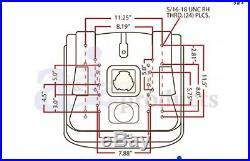 Aftermarket Seat Lgt100bl Jd Gator 316 318 420 430 Cub Cadet Toro Universal Seat