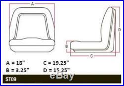 Black Universal Seat For John Deere Mower Gator TM333BL