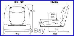 Camo HIGH BACK Seat for John Deere Gator UTV 4x2 6x4 Diesel Trail Worksite Turf
