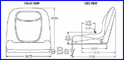 Camo XB180 HIGH BACK SEAT for John Deere GATORS Made in USA by MILSCO #IO