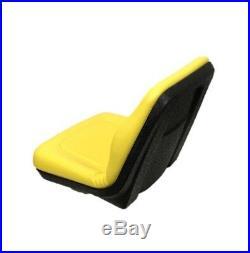 Concentric Ultra High Back Seat -Yellow Fits John Deere Gators & Lawn Mowers