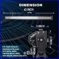 Curved 42 Led Light Bar Spot Flood Combo Beam John Deere Gator XUV S4 Top 40