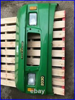 Front nosecone c/w head lamps John Deere Pro Gator 2030 Cab 4WD, green £140+VAT