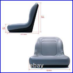 Grey HIGH BACK Seat for John Deere Gator Model E-Gator CS CX 4x4 Trail HPX TE
