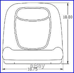 JOHN DEERE GATOR PAIR (2) YELLOW SEATS FITS GATOR 4X2 (WithSERIAL # 19551 & UP)