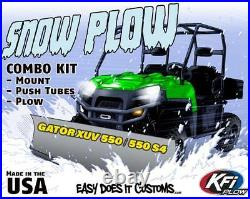 JOHN DEERE GATOR XUV 550 S4 ALL KFI UTV 60 Snow Plow Combo Kit