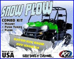 JOHN DEERE GATOR XUV 590M and XUV 590M S4 ALL KFI UTV 60 Snow Plow Combo Kit
