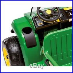 John Deere 12V Gator HPX Kids Electric Tractor Two Seater Green/Yellow Peg
