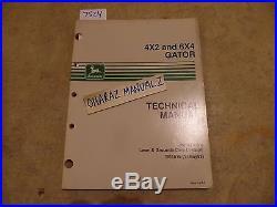 John Deere GATOR 4x2 & 6x4 Utlilty Vehicle Technical Manual