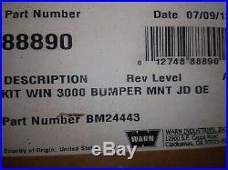 John Deere Gator 3000 Pound Warn Winch Kit Part#bm24443
