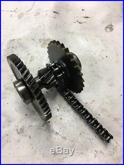 John Deere Gator 6 X 4. 2 X 4 Transaxle Shaft, Gear, chain Assy AM878456 Used