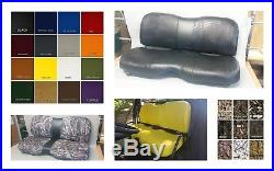John Deere Gator Bench Seat Covers XUV 825i / S4 in SOLID BLACK or 45+ Colors