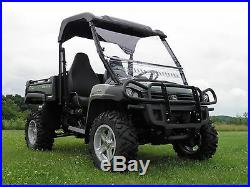John Deere Gator HPX/XUV 2 Pc Vented Windshield with QI Straps-Free Shipping