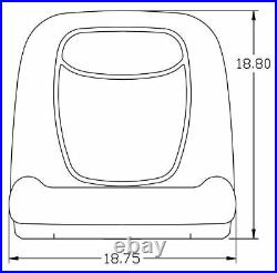 John Deere Gator Pair (2) Black Seats Fit CS and CX With Bracket to Tip Forward
