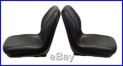 John Deere Gator Pair (2) Black Seats Fit E-Gator TH6X4 TE and Trail Series