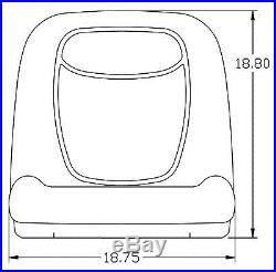 John Deere Gator Pair (2) Black Vinyl Seats fit Turf TX TXTurf Worksite and XUV