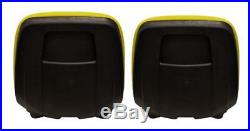 John Deere Gator Pair (2) Yellow Seats Fit CS and CX With Bracket to Tip Forward