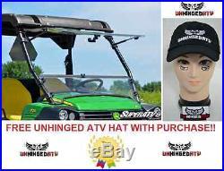 John Deere Gator Scratch Resistant Flip Windshield With Free Hat