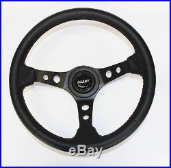 John Deere Gator UTV Grant Carbon Fiber Like Black Steering Wheel 13 3/4